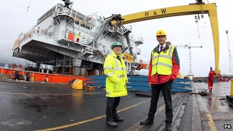 David McVeigh of Harland and Wolff (left), and Matthew Knight of Siemens