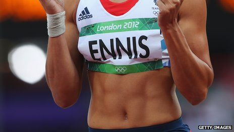 Jessica Ennis's six-pack