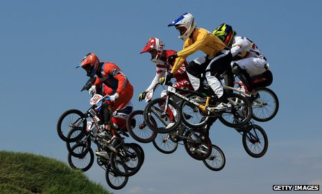 BMX cycling semi-finals