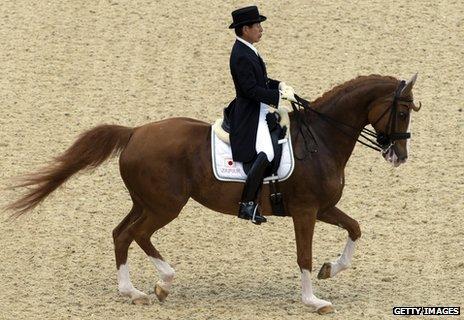Hiroshi Hoketsu on his horse