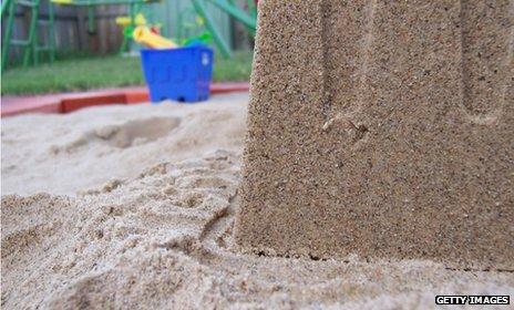Child's sand pit