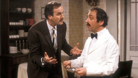 John Cleese and Andrew Sachs