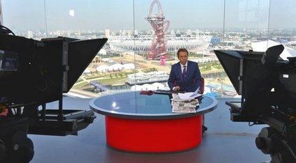 The BBC News studio at the Olympic Park