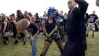 Face-painted dancers at Bloodstock 2012