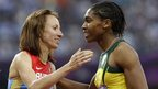 Mariya Savinova and Caster Semenya
