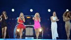 Spice Girls performing at the London 2012 Olympic Closing Ceremony