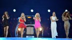 Spice Girls performing at the London 2012 Olympics closing ceremony