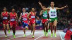 Taoufik Makhloufi of Algeria wins the gold in the mens 1500m final 