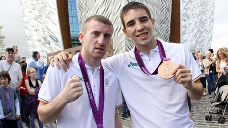 Olympic boxing bronze medallists Paddy Barnes and Michael Conlan