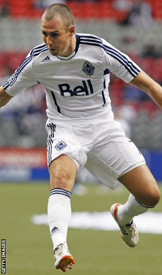 Kenny Miller goes for goal as he settles in at Vancouver Whitecaps