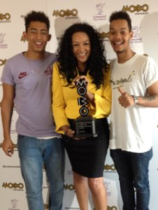 Organiser Kanya King and Rizzle Kicks