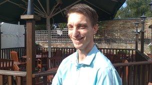Nathan Benford, manager of the George Inn, Eton