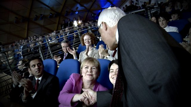 Johann Lamont, Ruth Davidson and Alistair Darling