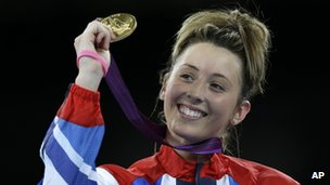 Jade Jones with Olympic gold