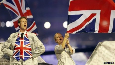 Scene from Sunday's London 2012 closing Olympic ceremony