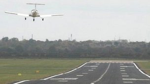 Hawarden airport runway