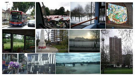 Some of the sights captured on bus journeys since 2009