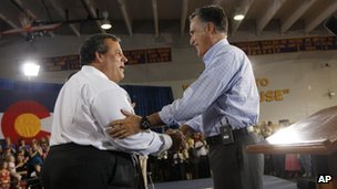 Mitt Romney and Chris Christie campaign in Basalt, Colorado 2 August 2012