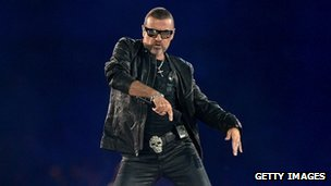 George Michael at the London 2012 closing ceremony