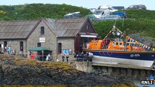 A previous open day at the RNLI Porthdinllaen boathouse