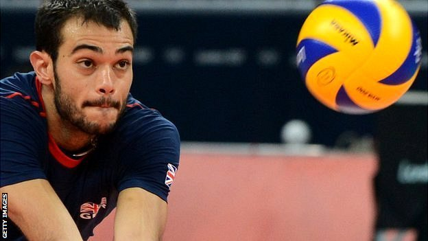 Great Britain's men's volleyball player Nathan French