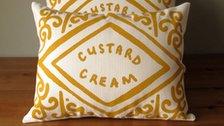 Custard Cream cushion