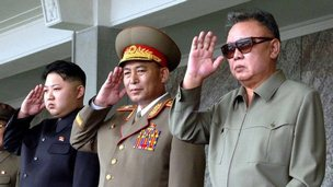 File photo: Ri Yong-ho (C) with Kim Jong-un (L) and Kim Jong-il