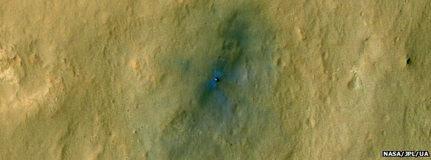 Mars rover on the surface