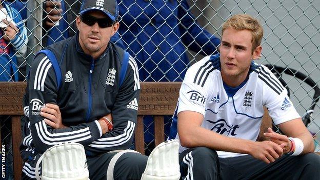Kevin Pietersen and Stuart Broad