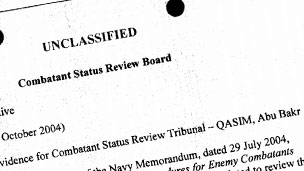 Combatant Status Review Tribunal report