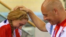 Laura Trott and Dave Brailsford