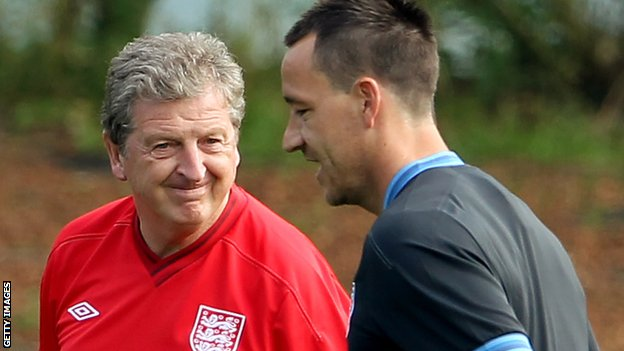 Roy Hodgson and John Terry