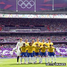 Brazil play at the Millennium Stadium