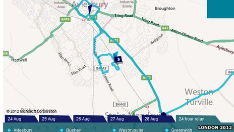 Grab of the relay route