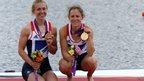 Rowers Katherine Copeland and Sophie Hosking