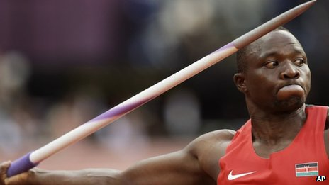 Kenya's Julius Yego throwing a javelin