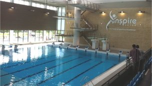 No refunds for swimmers disrupted by splash filming bbc news for Phoenix swimming pool white city