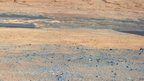 Picture of Mars landscape taken by Curiosity rover