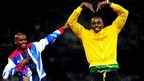 Usain Bolt and Mo Farah