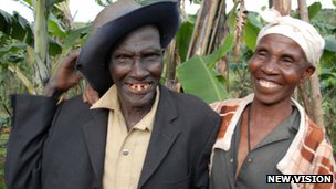 Stephen Kiprotich's parents (Copyright New Vision)