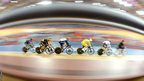 Sir Chris Hoy of Great Britain competes in the Men's Keirin Track Cycling Final