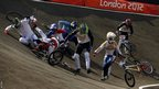 It's not all plain sailing for some BMX riders, picking themselves up after a heavy crash