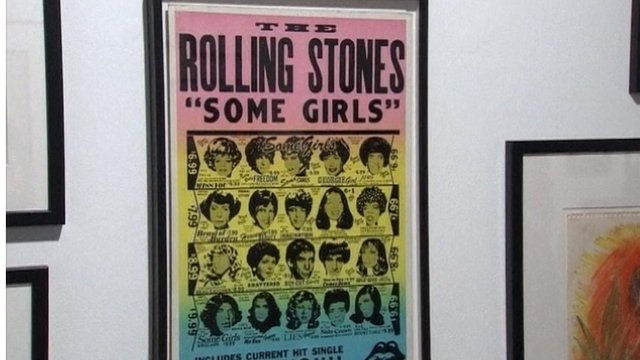 A Rolling Stones poster designed by Ronnie Wood