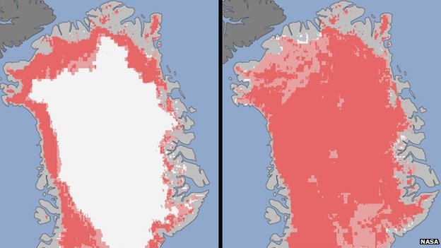 Nasa Greenland ice sheet graphic