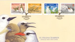 First-day cover of Saint Helena stamps