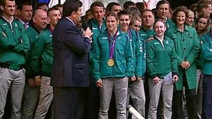 Katie Taylor and Team Ireland