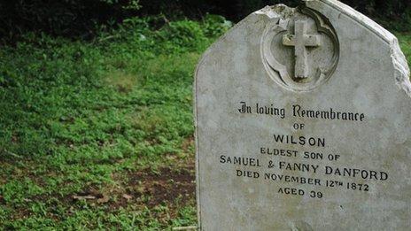 Gravestone of Wilson Danford