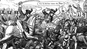 Picture of the Peterloo Massacre