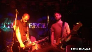 The band performing at The Fleece in Bristol on Tuesday night