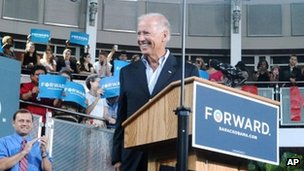 Vice President Joe Biden in Danville, Virginia 14 August 2012